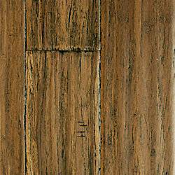 Honey Strand Distressed Wide Plank Click Solid Bamboo Flooring - 1/2 in. thick